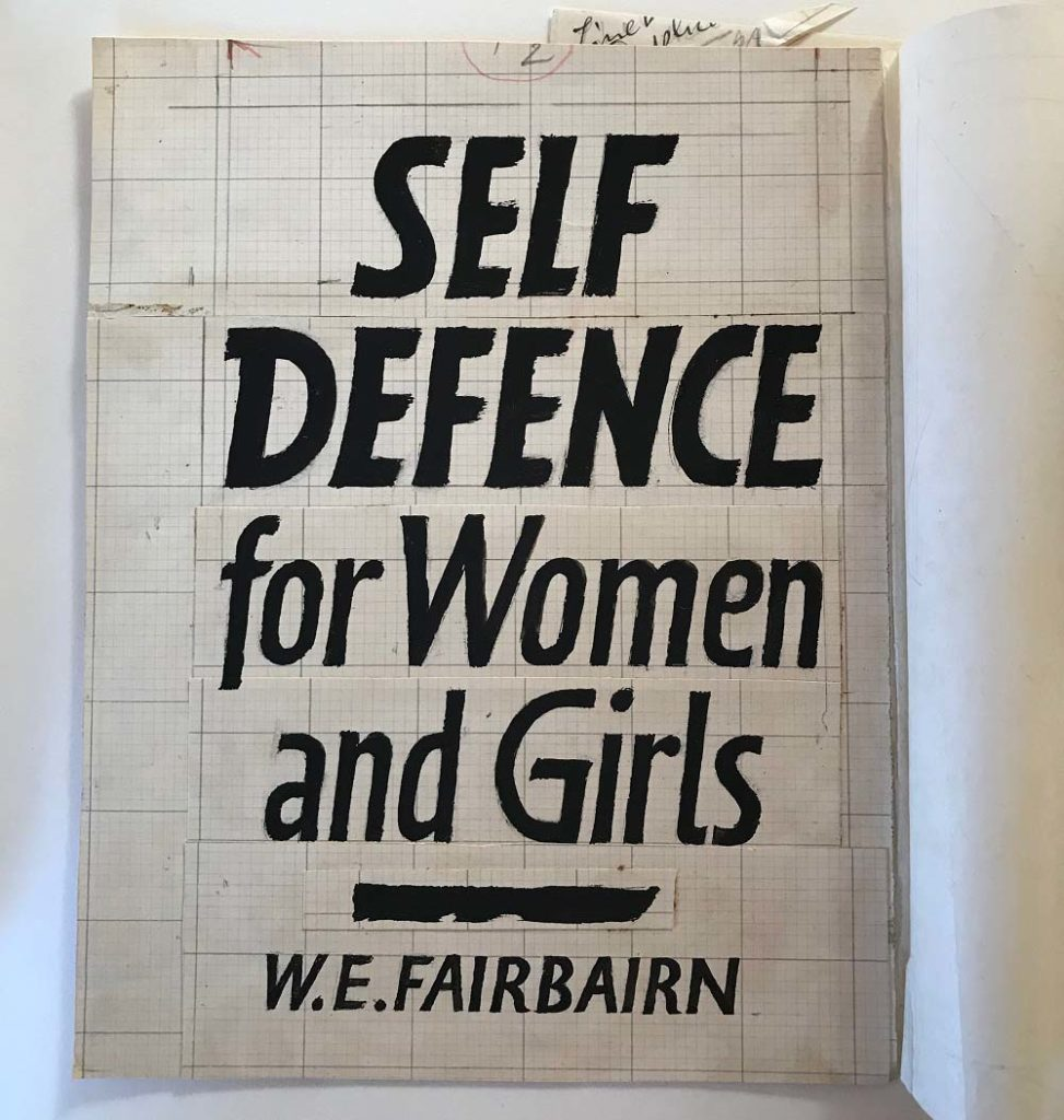 a book design with simple black typeface for Self Defence for Women and Girls by WE Farbairn