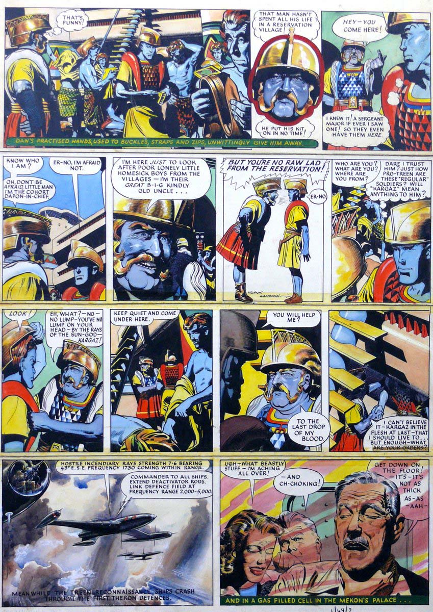 a comic strip from Eagle comic sowing aliens and Dan Dare