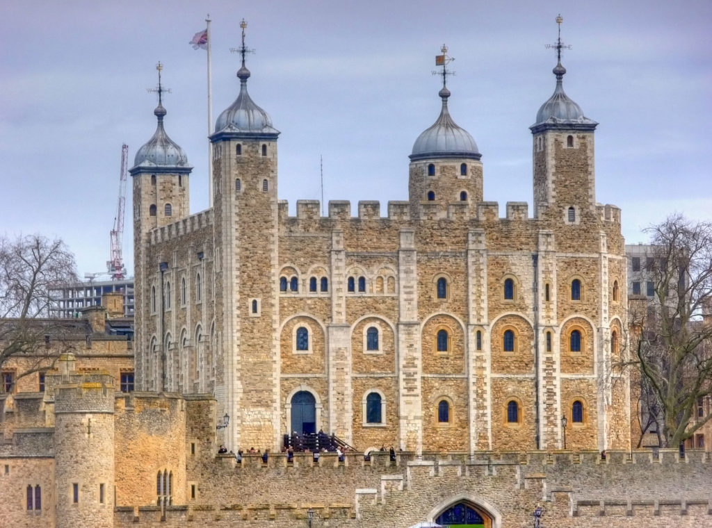 photograph of the exterior of the tower of London