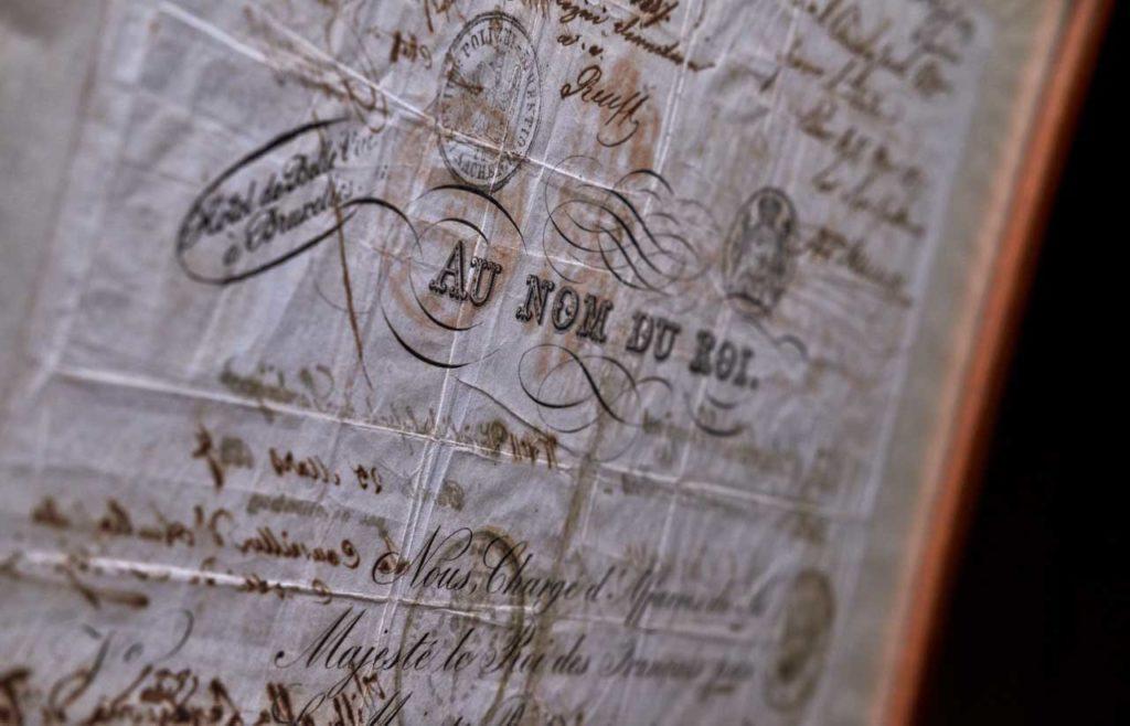 a close up of William Wordsworth's passport