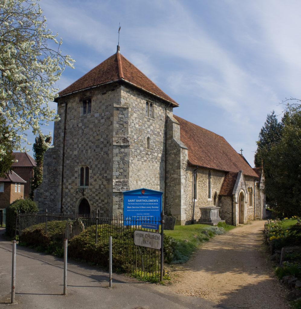 photograph of exterior of church