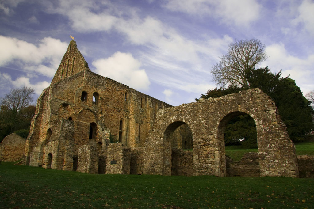 photograph of ruined abbey