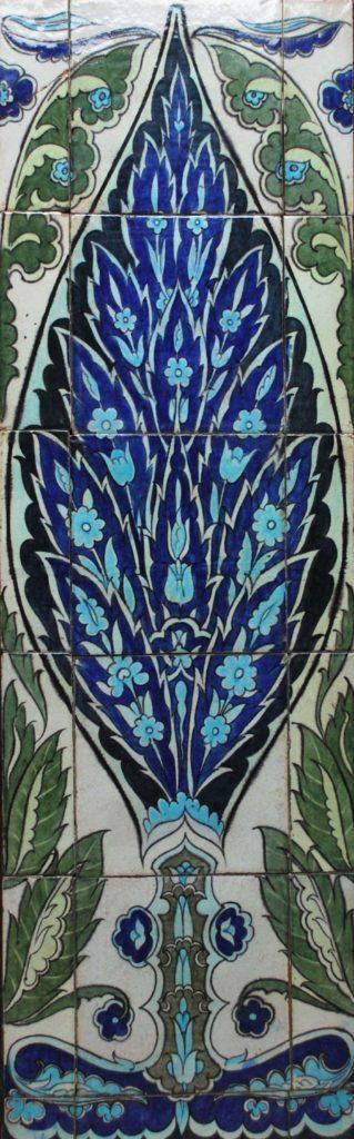 a photo of a symmetrical tile design