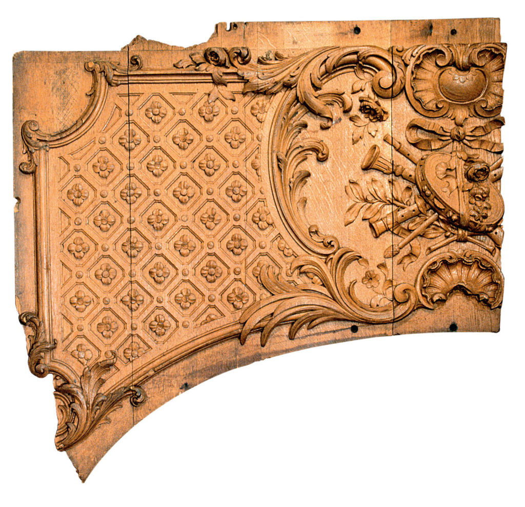 a photo of a fragment of a carved panel