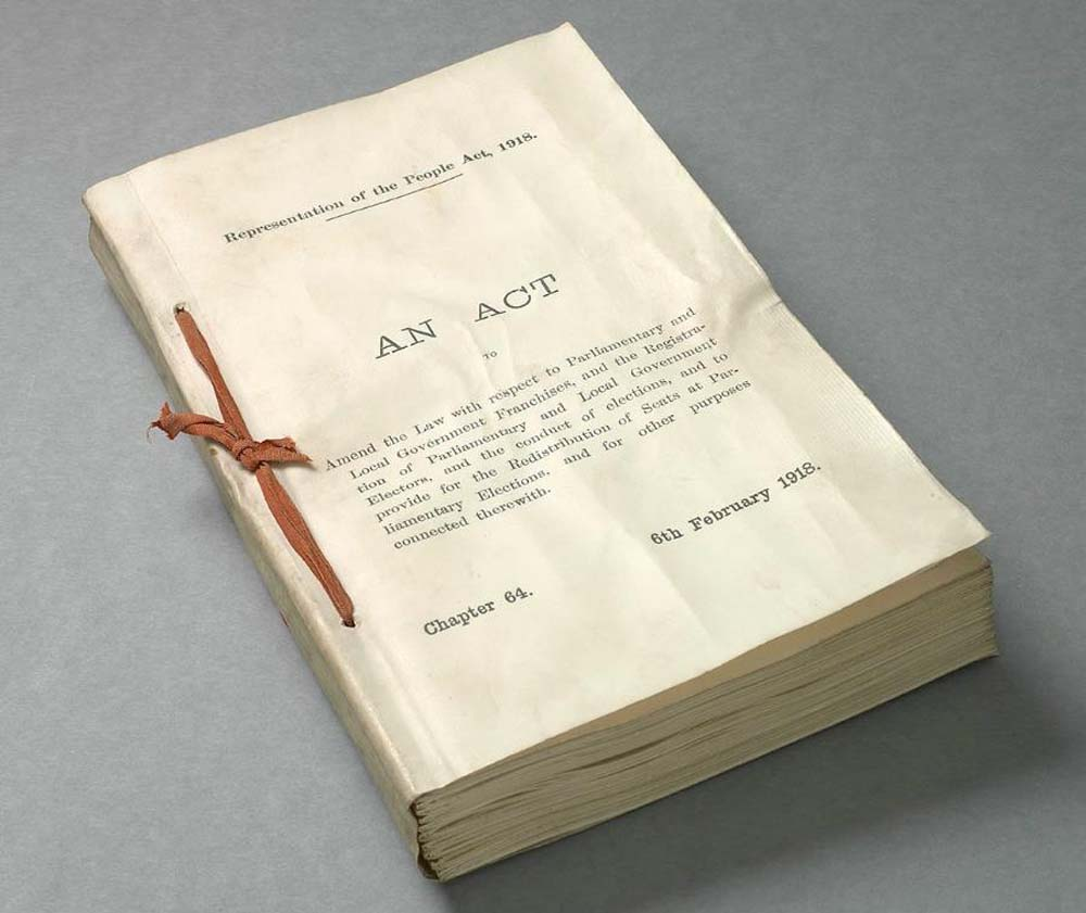 a photo of a thick unbound folio of papers with An Act written on the front page