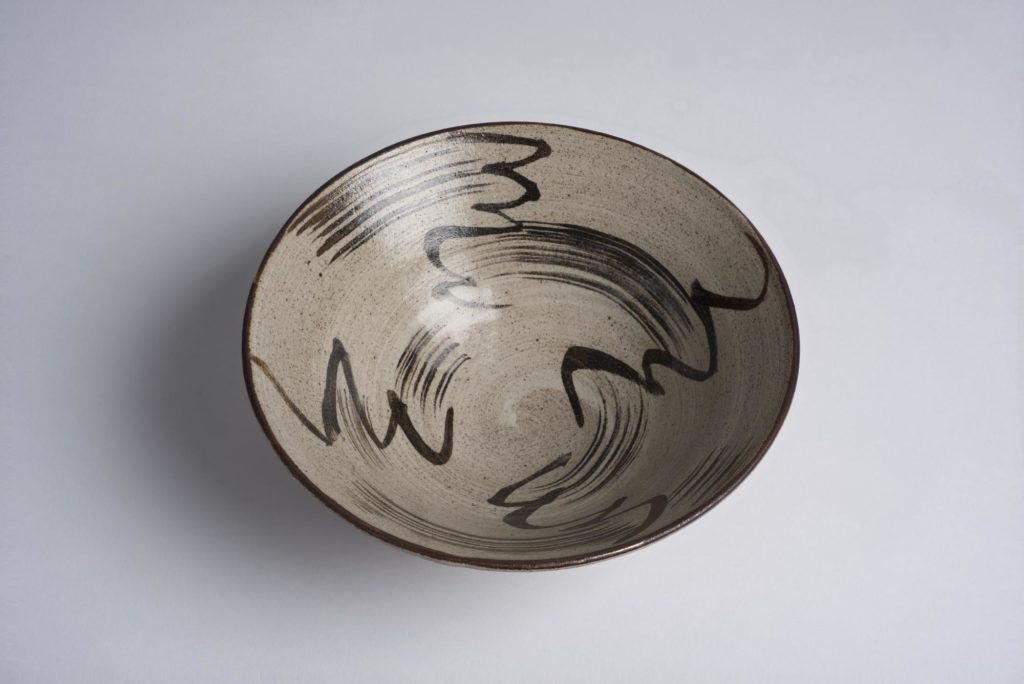 bowl with grey squiggles