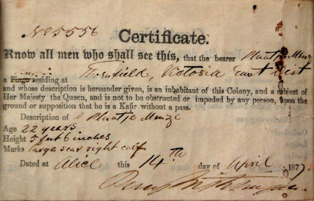 a photo of a certificate