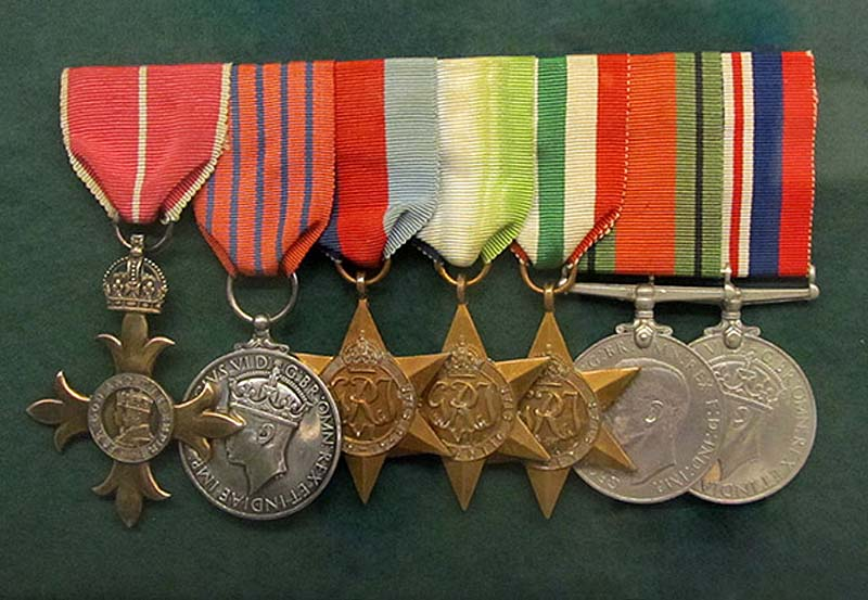 a photo of a row of medals against a green background