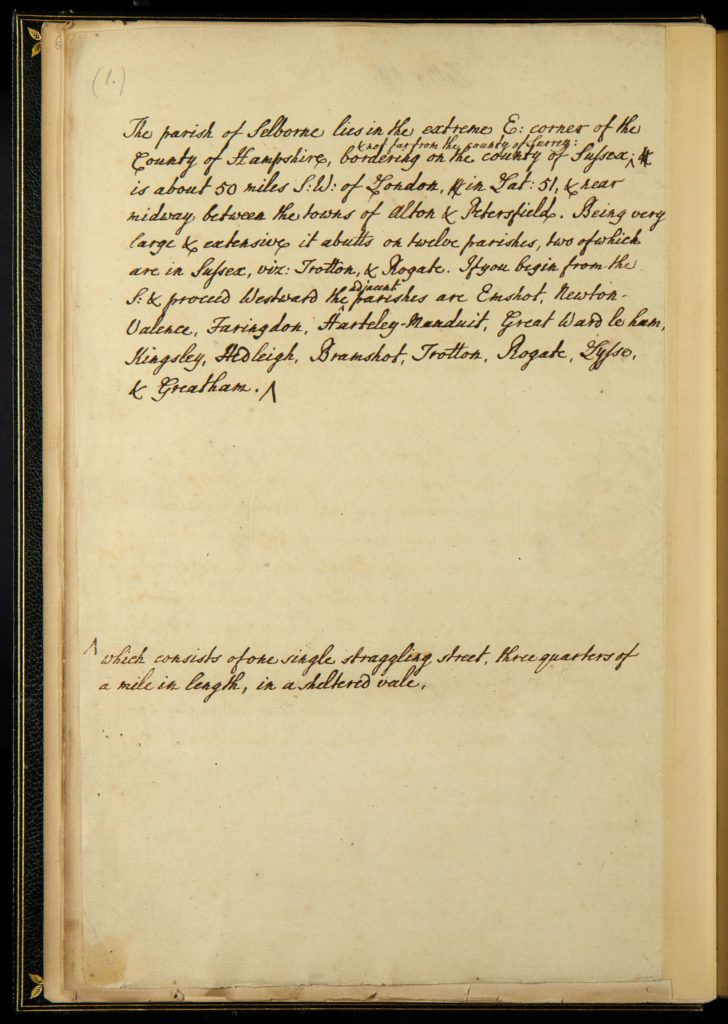 a photo of a page of a handwritten manuscript
