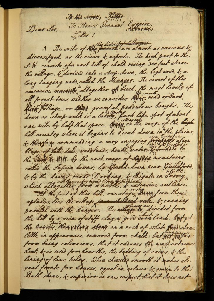 a photo of a page of handwritten ink text