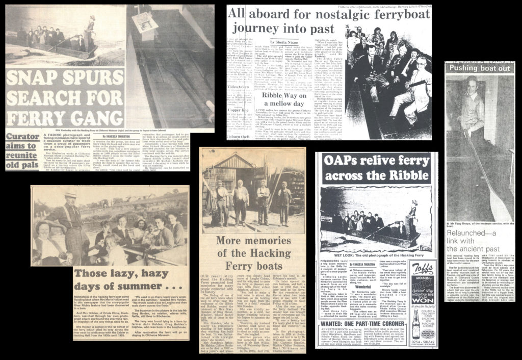 a display showing several newspaper clippings