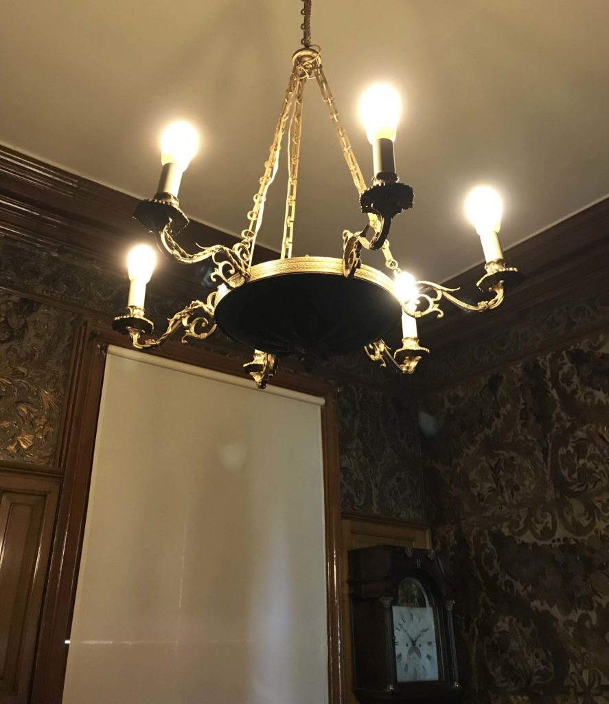a photo of a chandelier