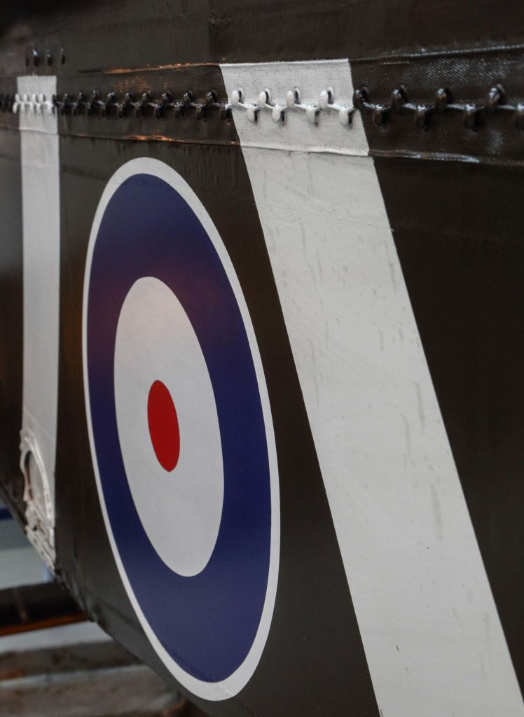 a photo of an RAF roundel on the side of an aircraft