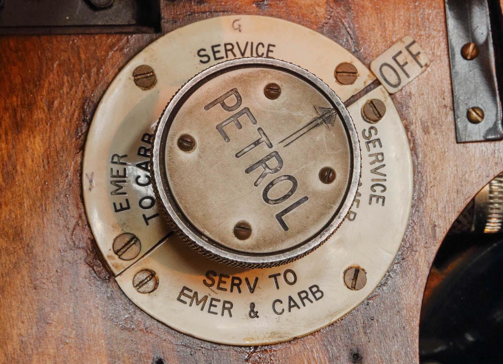 a photo of a brass petrol cap