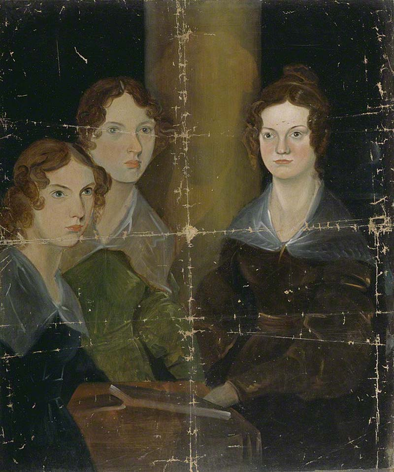 a group portrait of the Bronte sisters