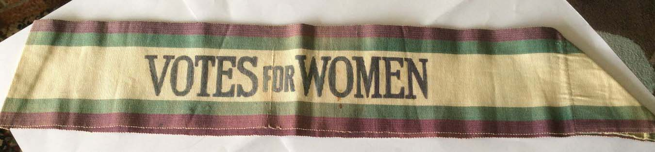 a photo of a shash with the words votes for women