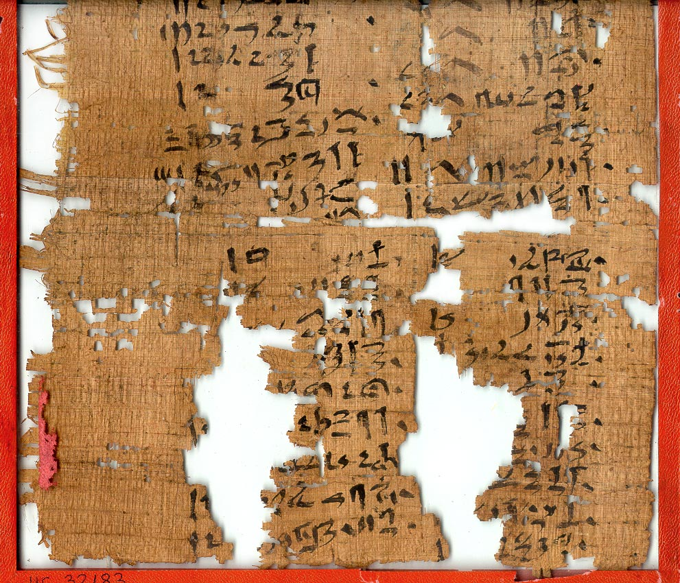 a photo of a papyrus text with writing on it