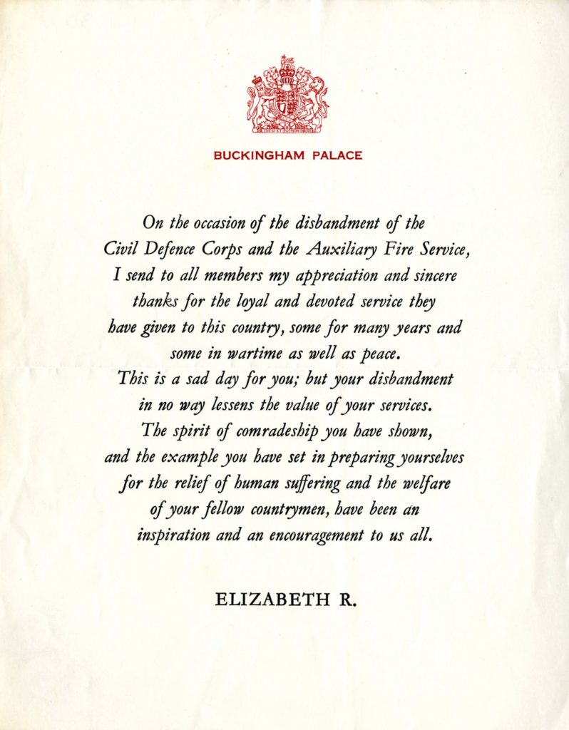 a photo of a certificate with the royal coat of arms at the top