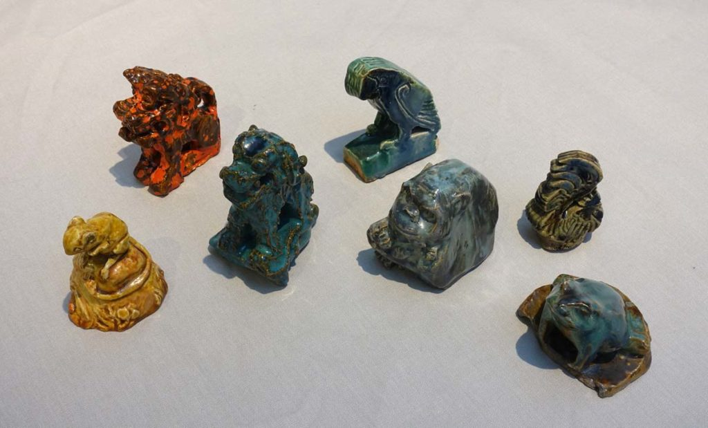 a series of small animal figurines