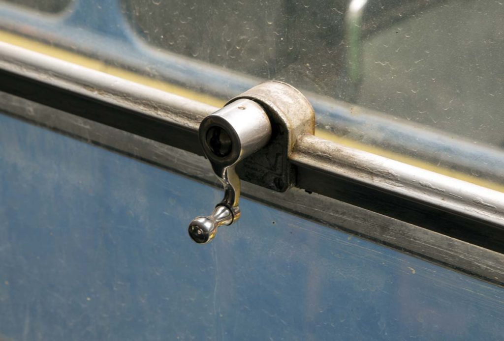 a close up of a window lever