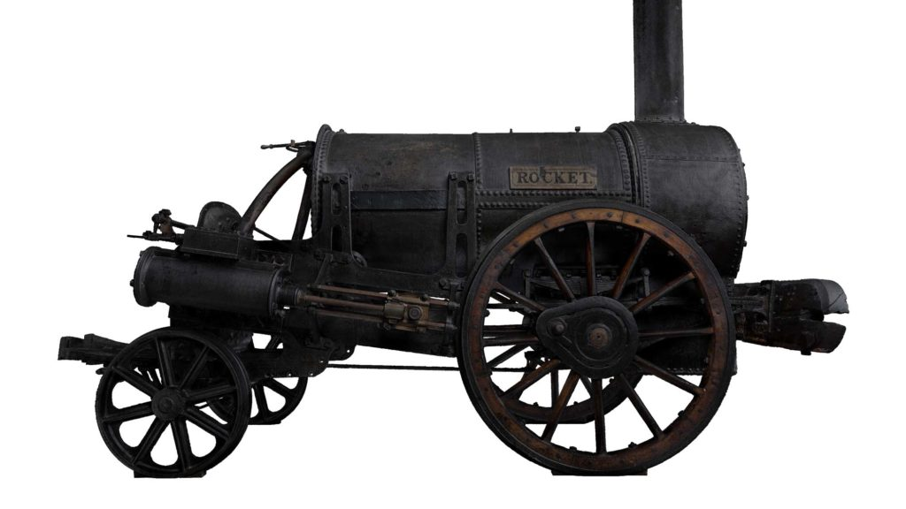 a side view image of Stephenson's Rocket