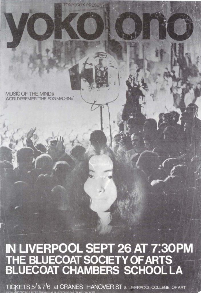 a poster with Yoko Ono's face on it
