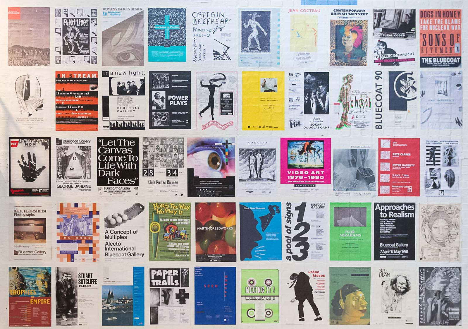 a montage of posters ands brochure artworks