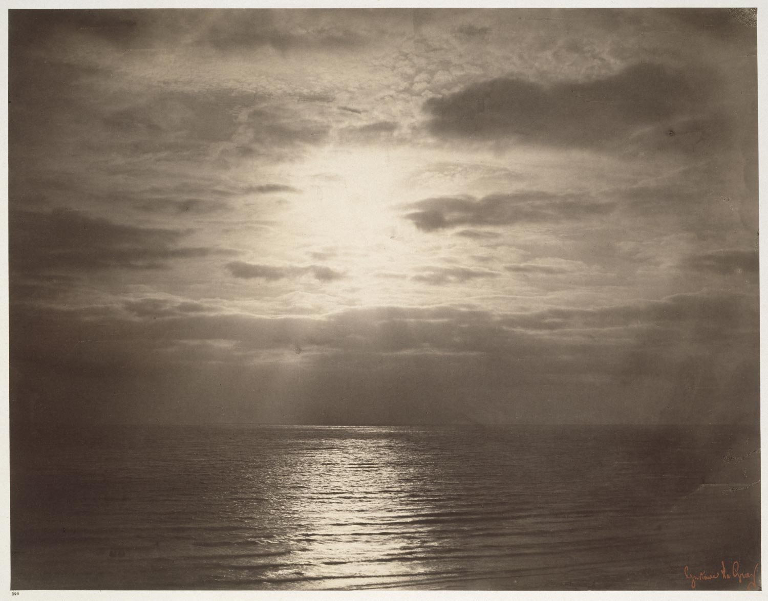 black and white photograph of seascape