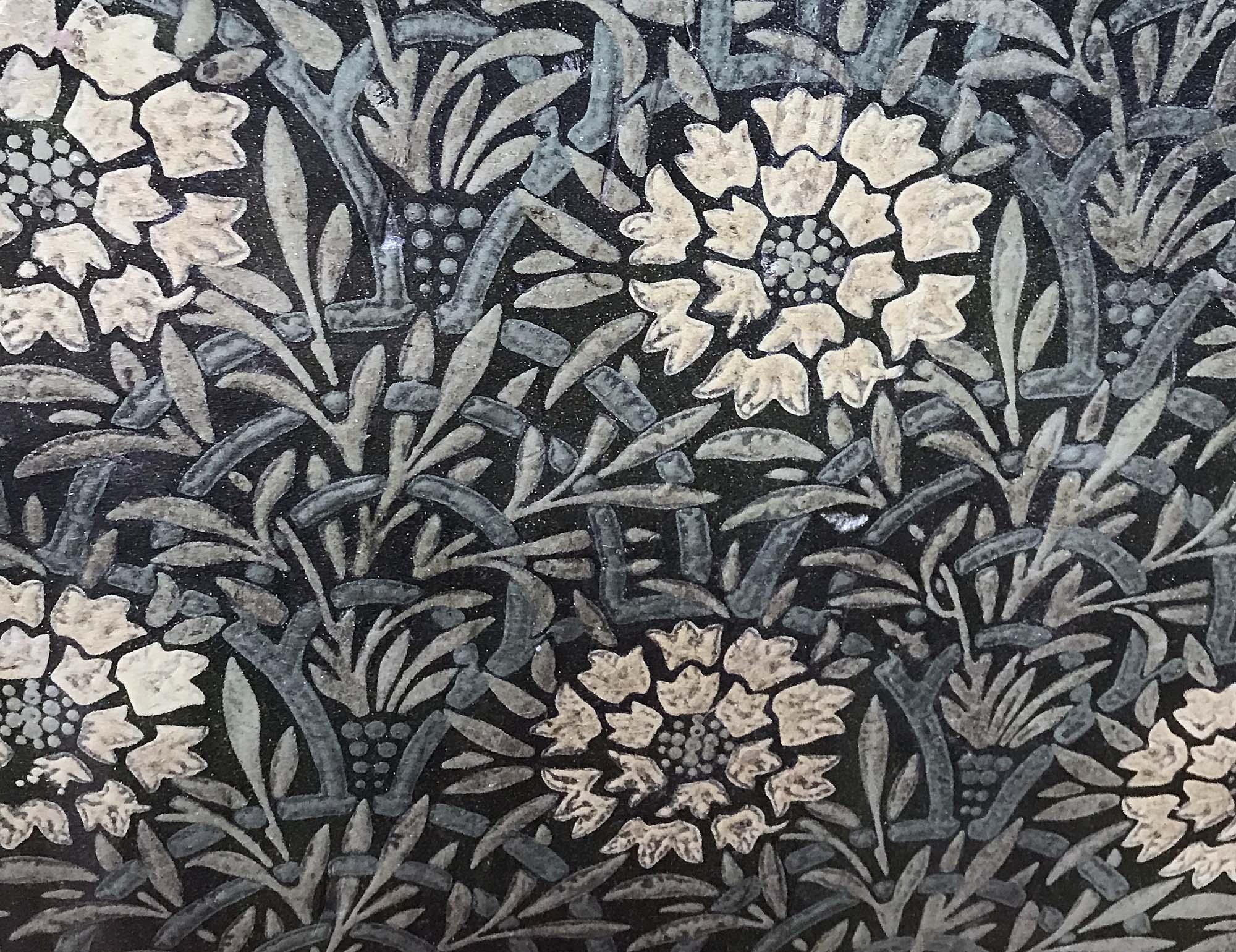 a photo of flower patterned linoleum