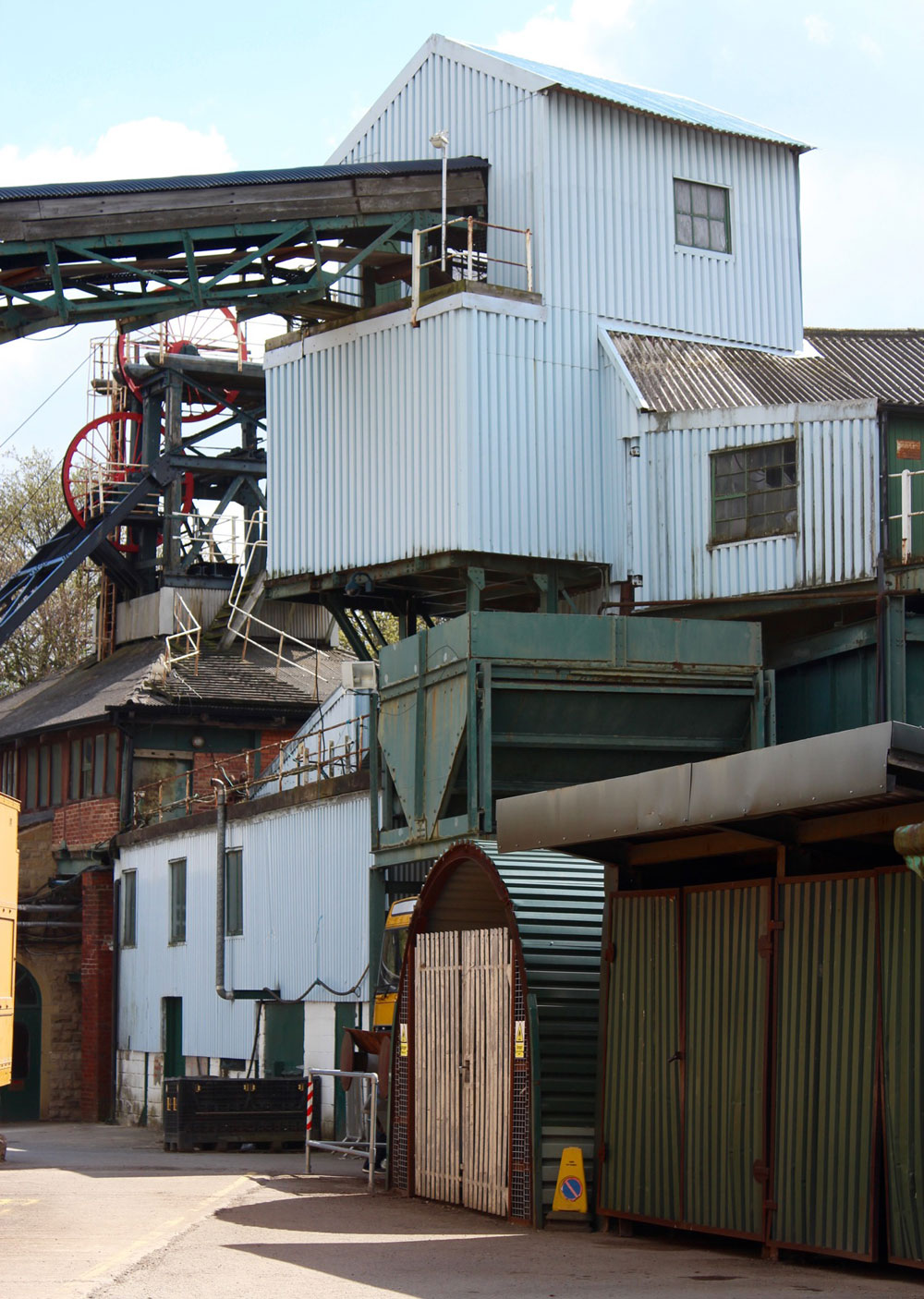 photograph of colliery buildings