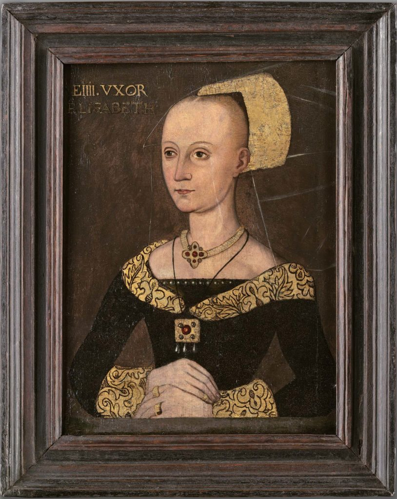 a painting of a Tudor lady in a hat