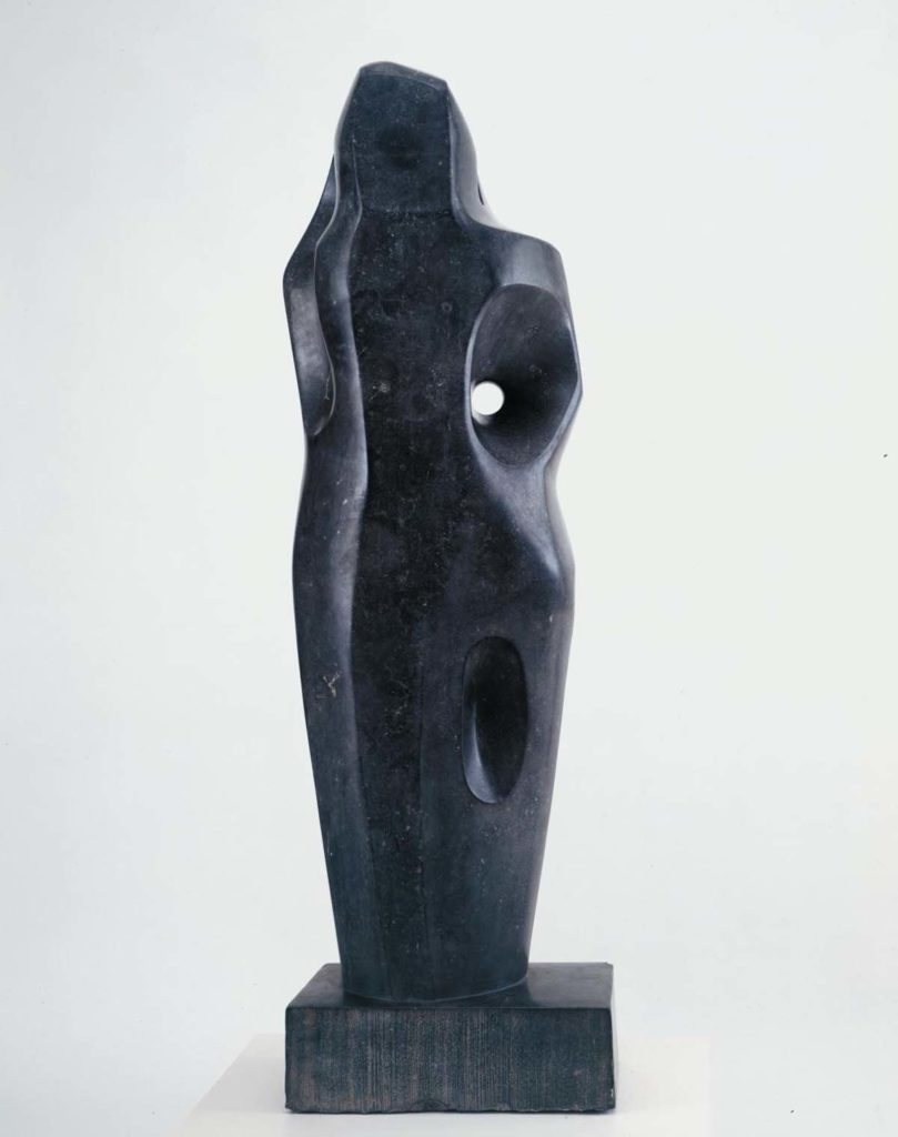 a black abstract figurative form