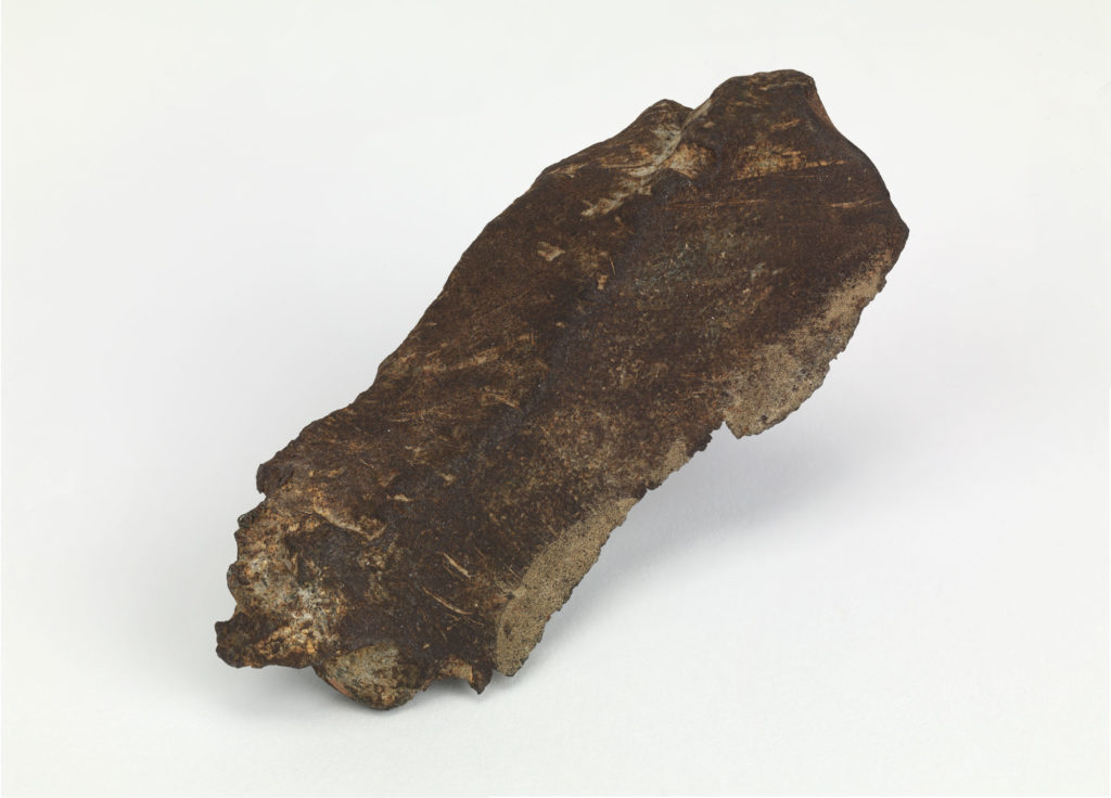 photogrpah of fragment of explosive shell