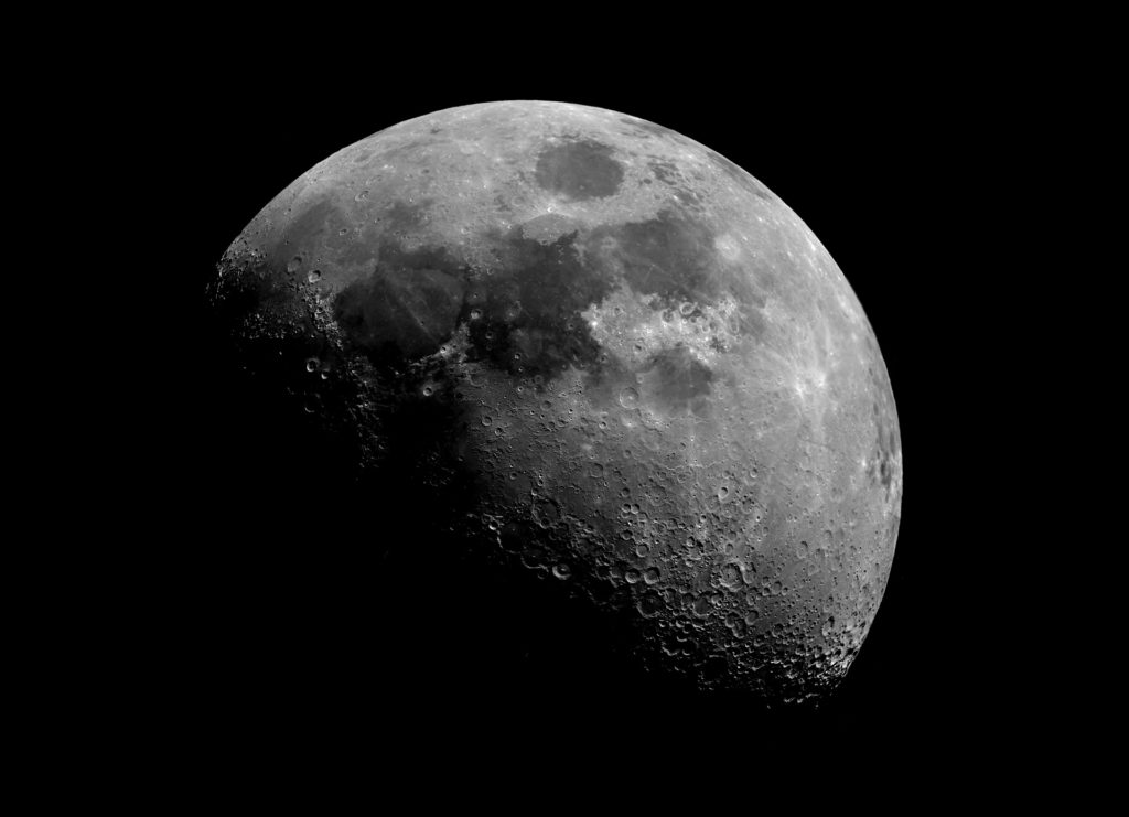 photograph of the moon's surface