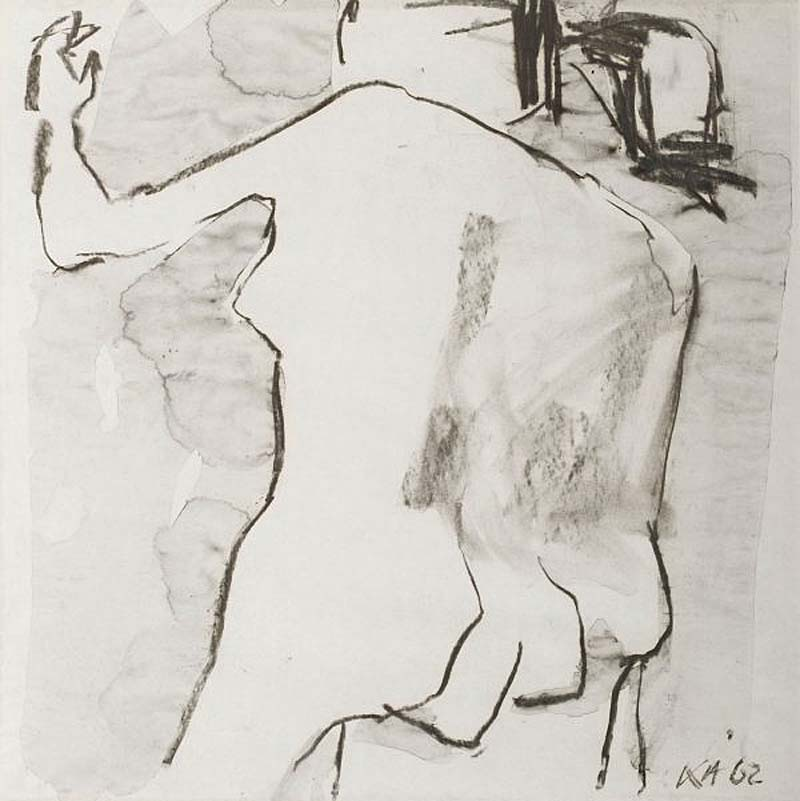 a sketch of two nude male figures