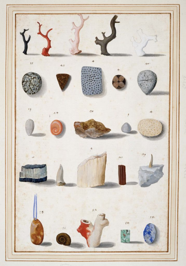 a poster showing various rocks and minerals in crystal form