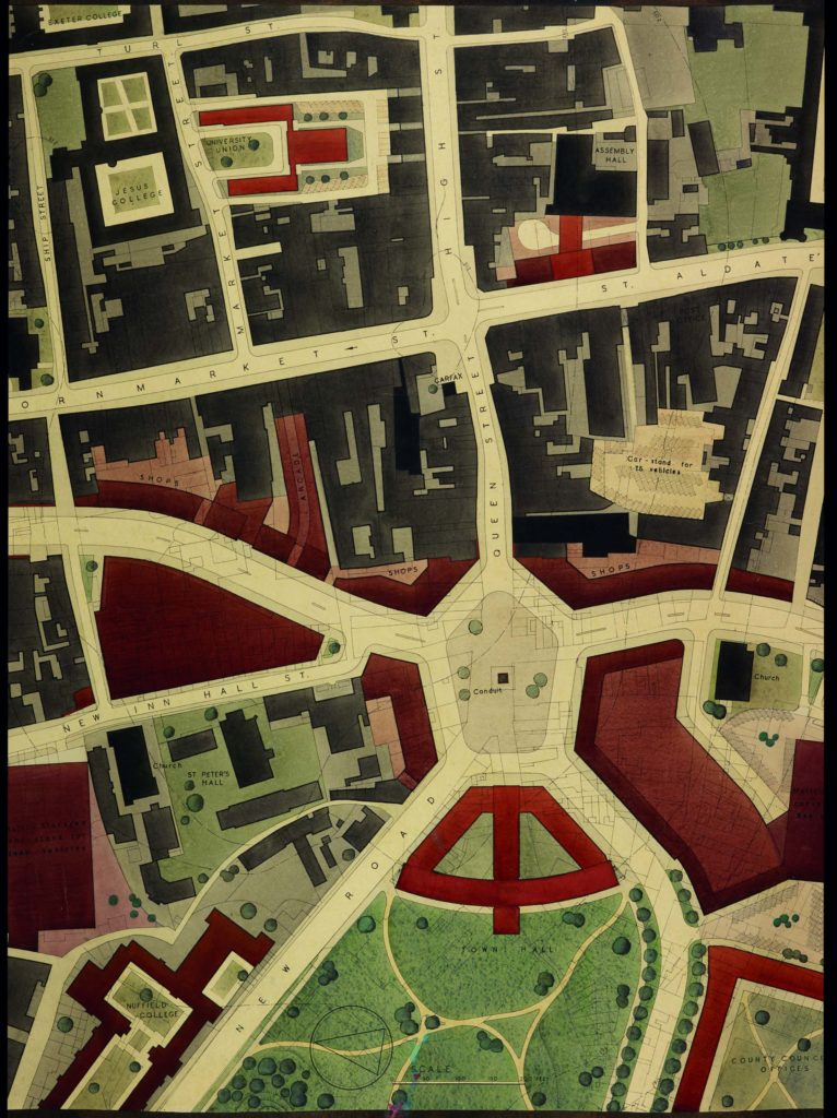 a photo of a map showing a street plan
