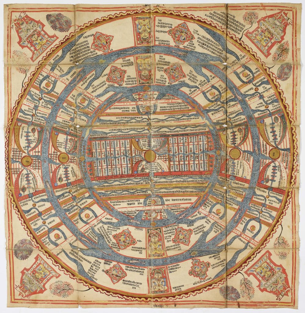 a circular Japanese map