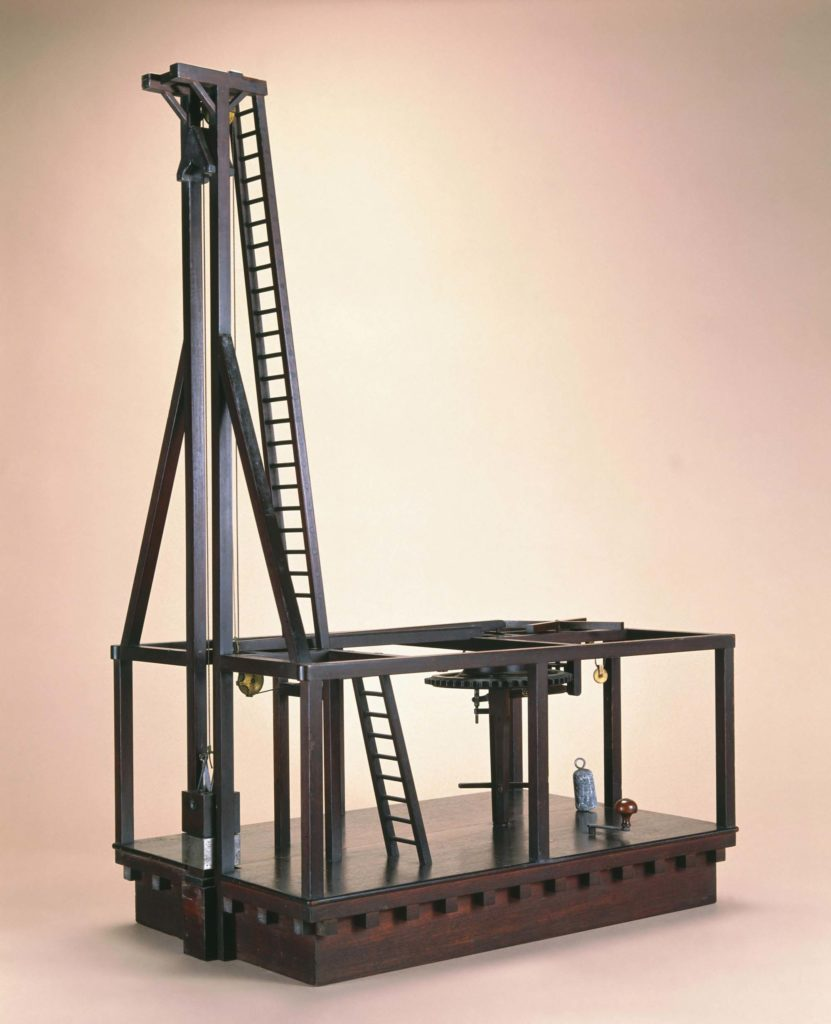 a model of a lever and pully device