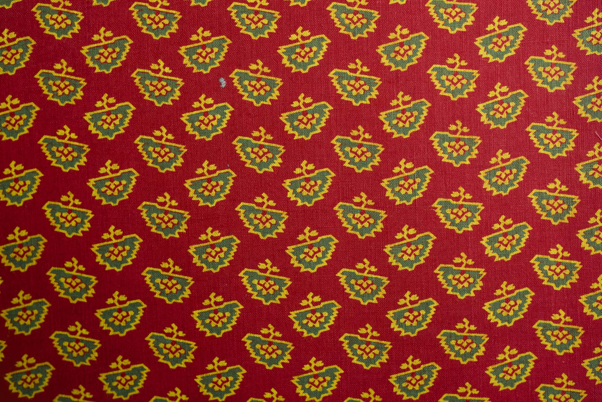 a textile sample with paisley pattern
