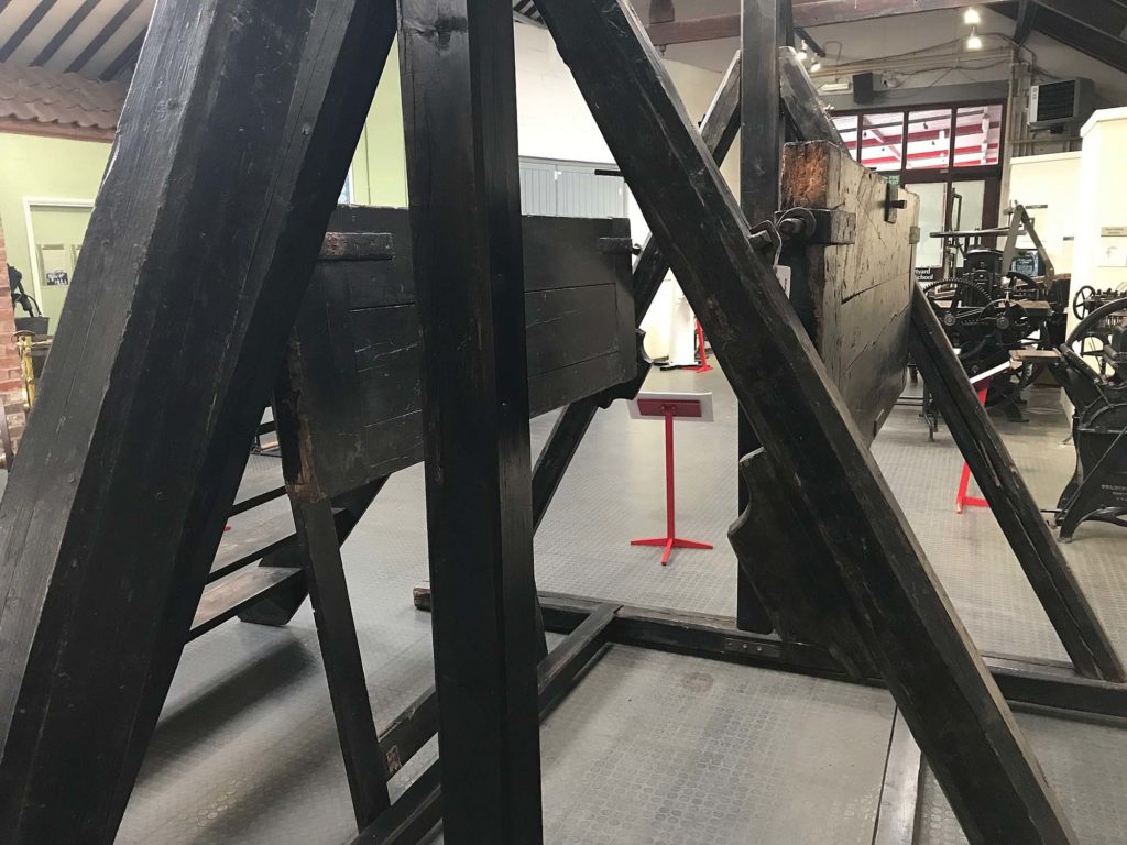 a photo of the trap door of a gallows