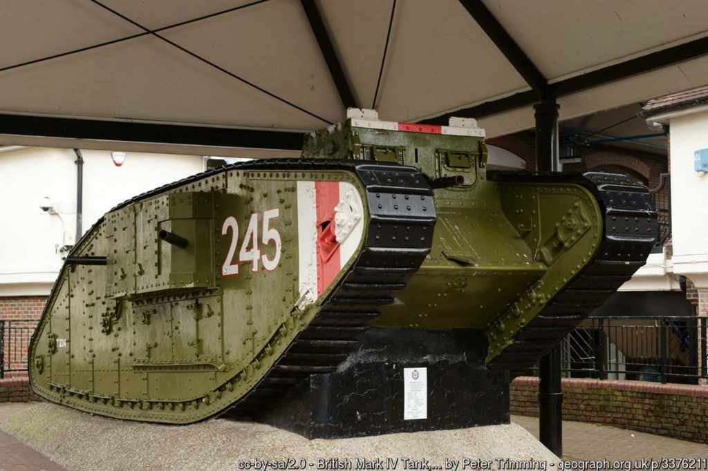 a photo of a First World War tank