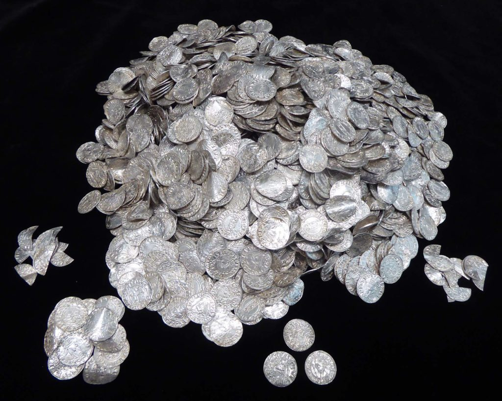 a photo of a silver coin hoard