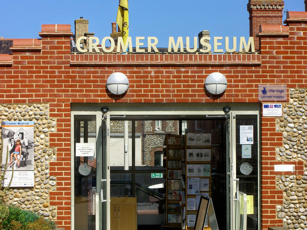 The entrance to Cromer Museum