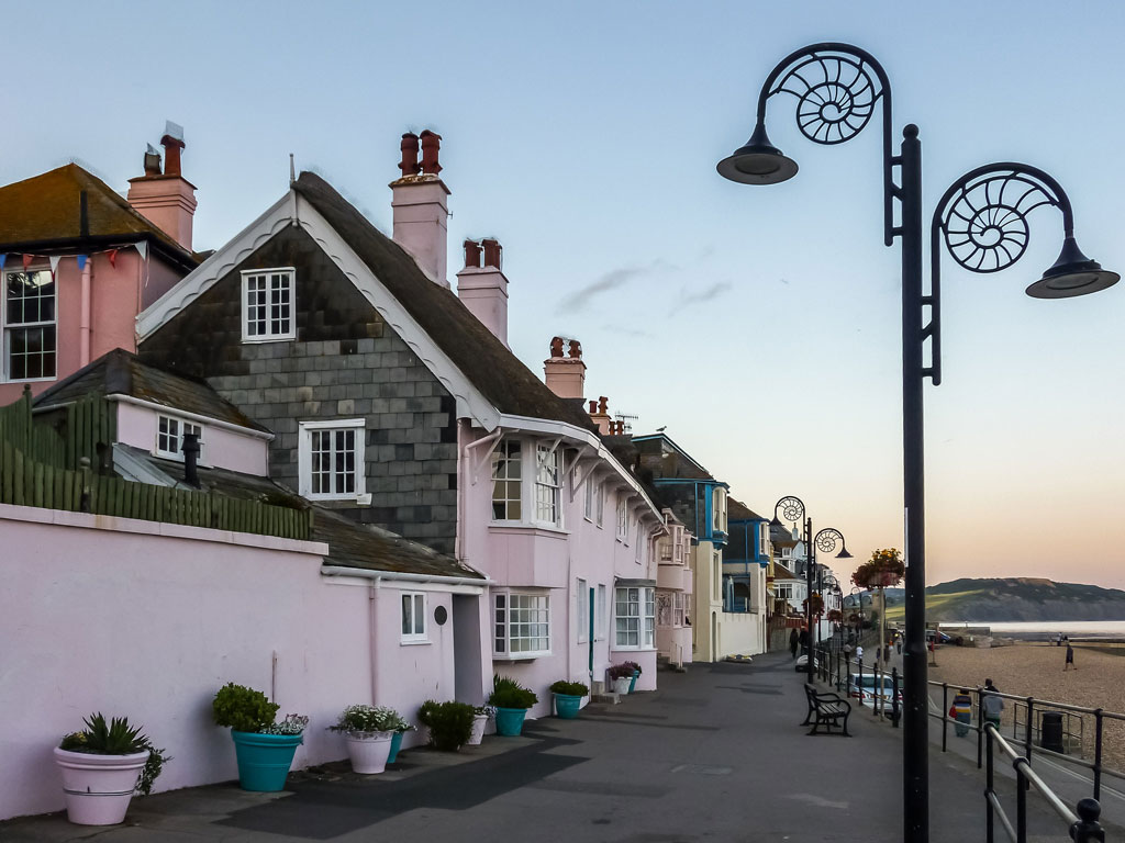 A street in the town of Lyme Regis