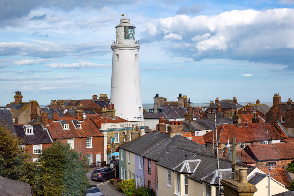 A view of Southwold's lighthouse
