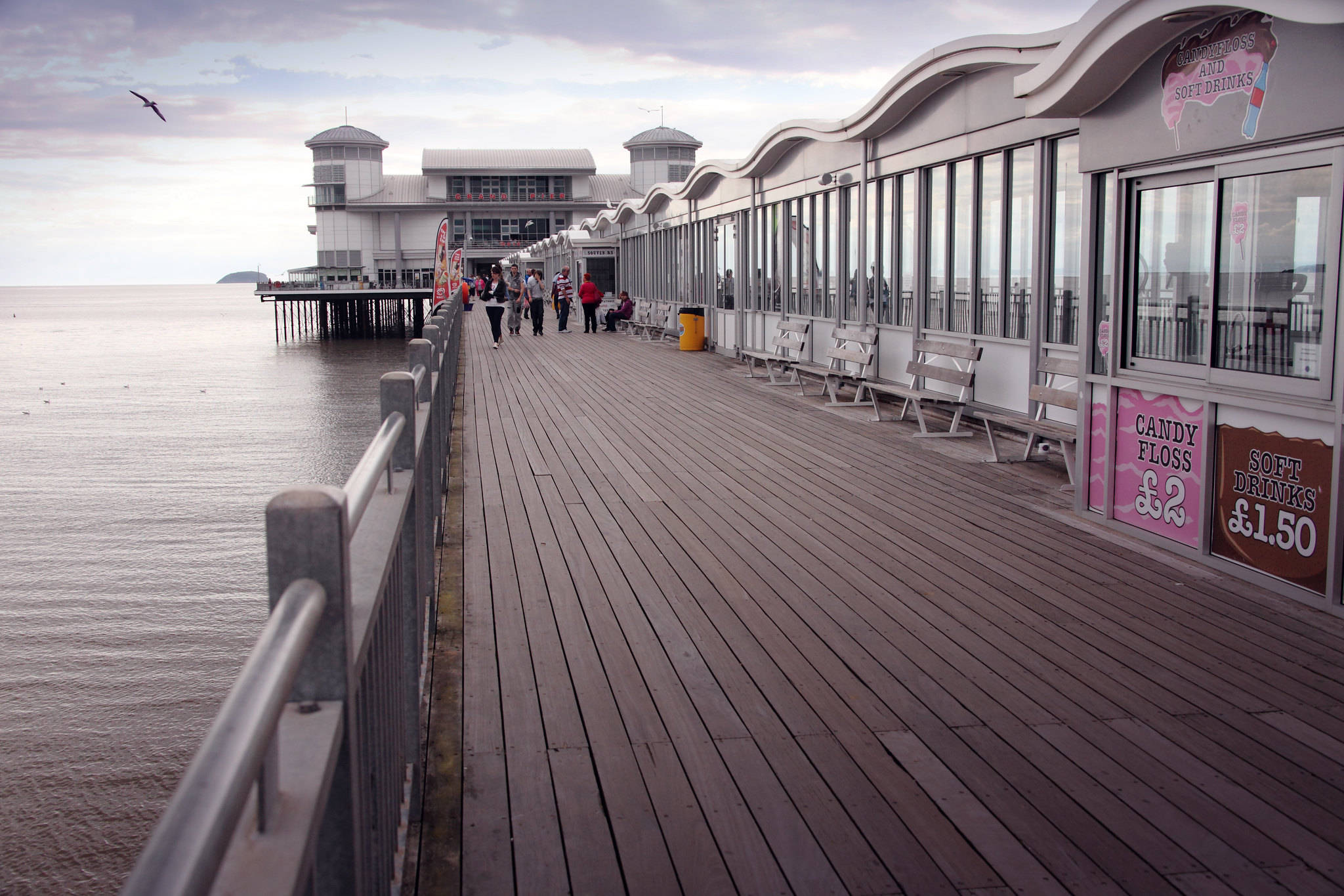 A view down the pier at Weston-super-Mare