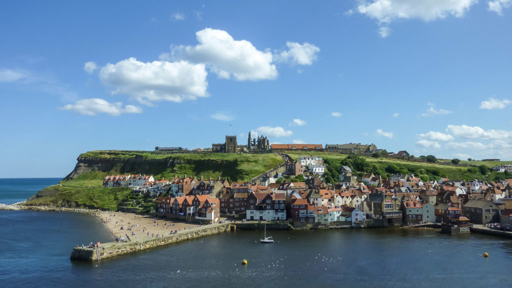 Whitby as seen from the sea