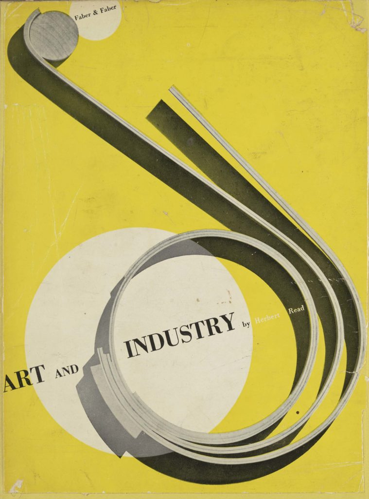 a book cover with a coiled metal sheet against a yellow background