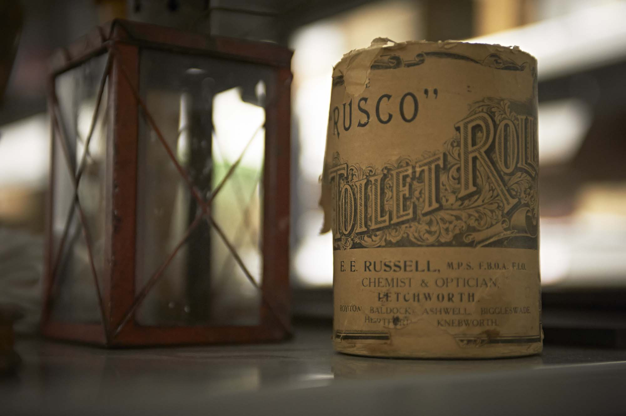 a photo of an old roll of loo roll called Rusco Toilet Roll